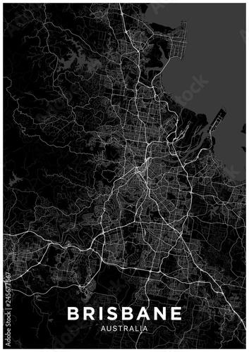 Obraz na plátně Brisbane (Australia) city map