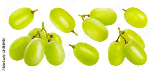 Valokuva Green grape isolated on white background