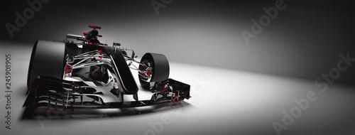 Nowoczesny samochód F1 na jasnym tle.