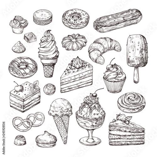 Wallpaper Mural Sketch dessert