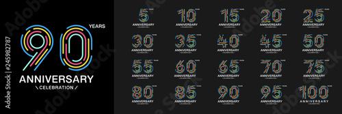 Fototapeta Set of anniversary logotype