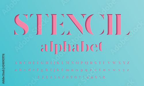 Foto Color paper cut alphabet design