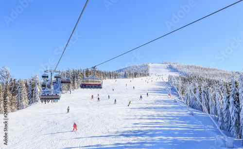 Ski slope from summit of Male Skrzyczne to Skrzyczenska Hala