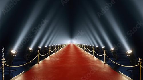 Obraz na plátne red carpet with volume light in 4k