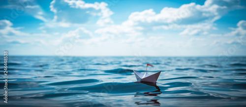 Canvastavla Paper Boat