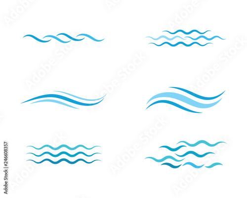 Fotografie, Obraz Water wave icon vector