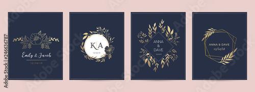 Fotografia, Obraz Wedding logos, hand drawn elegant, delicate monogram collection