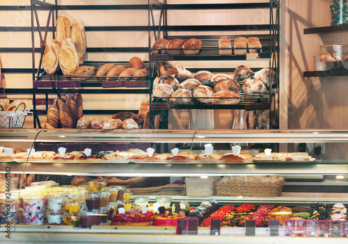 Stampa su Tela Pastry shop in France