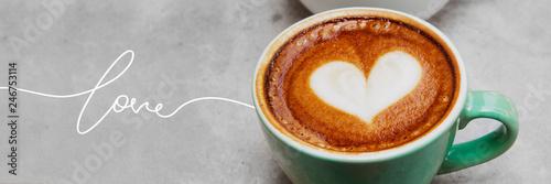 Love coffee latte art Tapéta, Fotótapéta