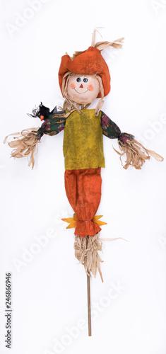 Photo scarecrow isolated on white background