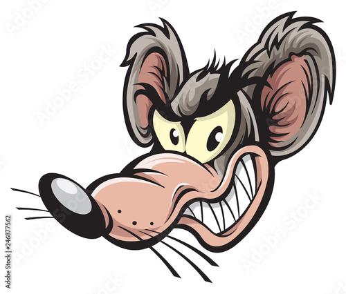 Obraz na plátně Rat cartoon character