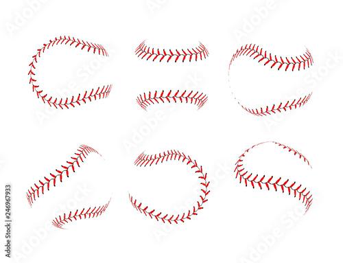 Canvas Print Baseball lace ball illustration isolated symbol set