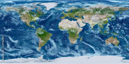 Valokuvatapetti Geography world map. Modified toned with city lights