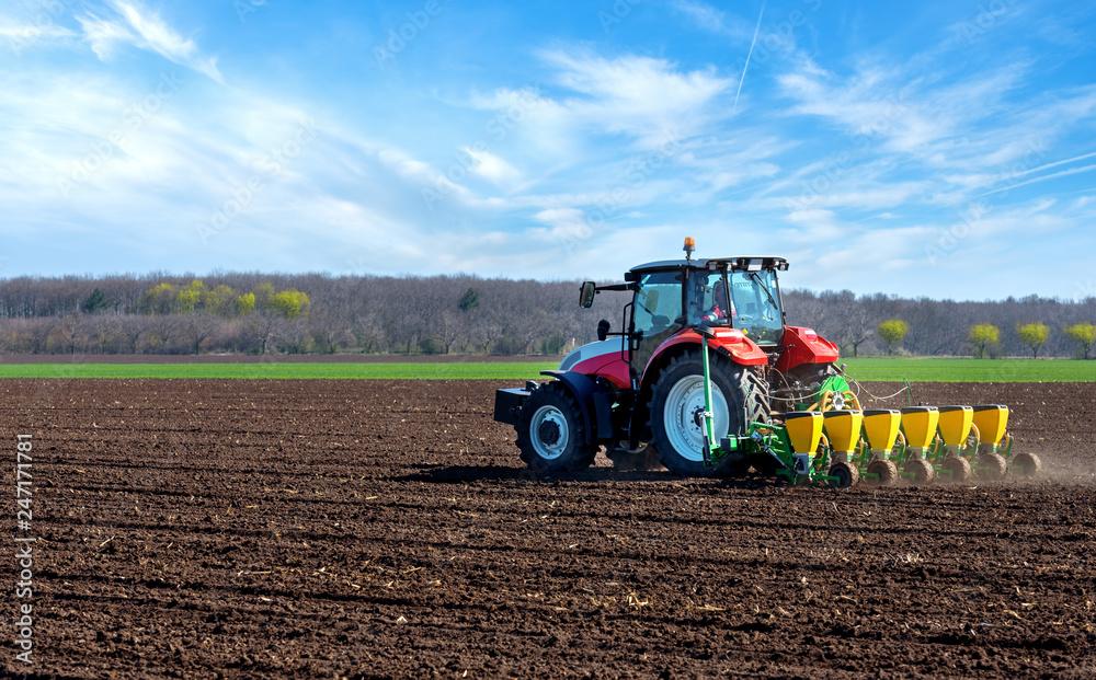 Agricultural machinery, sowing. <span>plik: #247171781   autor: vrstudio</span>