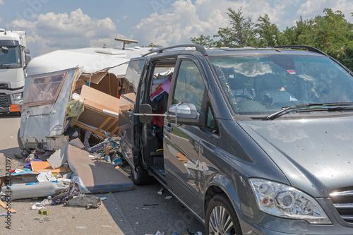 Camper Van Traffic Accident