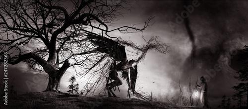 Fényképezés Demon and monk