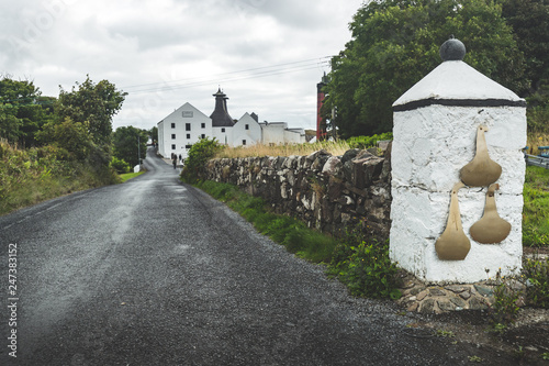Fotografia, Obraz Close-up main road to the Laphroaig distillery