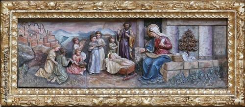 Slika na platnu Nativity Scene, altarpiece on the altar of Our Lady in the church of Saint Matth