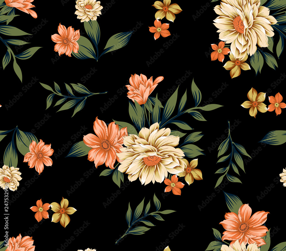 beautiful traditional flower bunch background