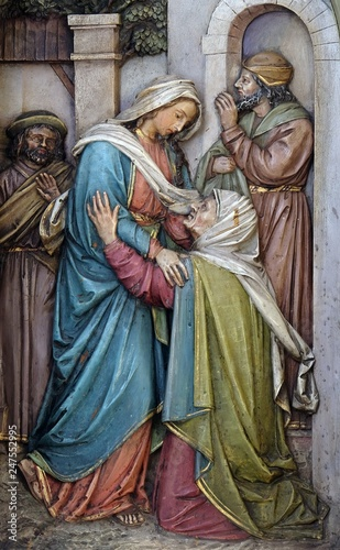 Tablou Canvas Visitation of the Virgin Mary, altarpiece in the Basilica of the Sacred Heart of