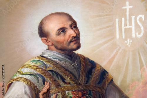 Saint Ignatius of Loyola altarpiece in the Basilica of the Sacred Heart of Jesus Fototapete
