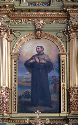 Saint Francis Xavier, altarpiece in the Basilica of the Sacred Heart of Jesus in Fototapeta