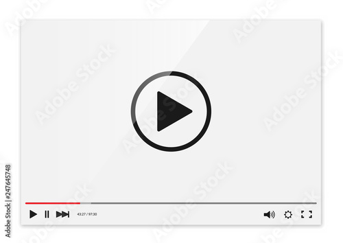 Stampa su Tela Video player vector
