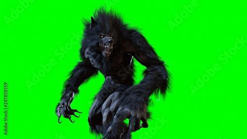 Photo werewolf 3d render