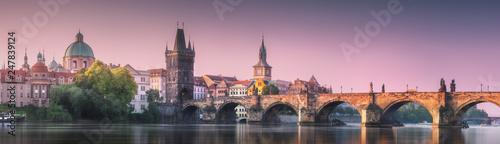 Photo View of Charles bridge Prague, Czech Republic.