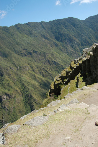 View of the moutains from Machu Picchu - Peru