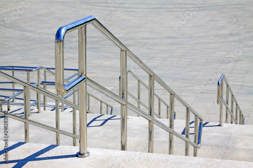 Wallpaper Mural Stainless steel handrails and steps