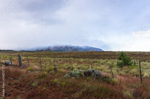 moody andes moutains in patagonia