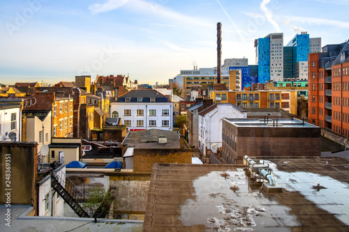 London, United Kingdom - Panoramic view of the Whitechapel district of East Lond Poster Mural XXL