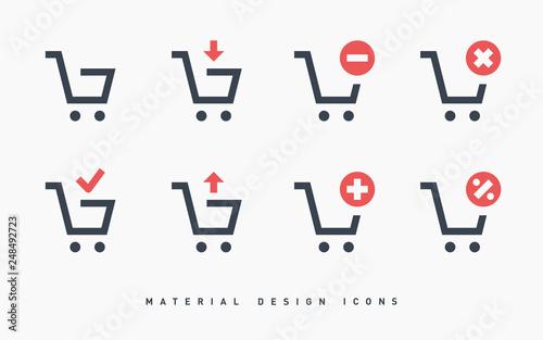 shopping cart icon Fototapeta