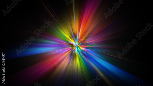 Obraz na plátne Colorful abstract Star burst light explosion background