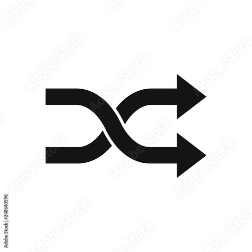 Obraz na plátne Two crossed arrows. Vector. Isolated.