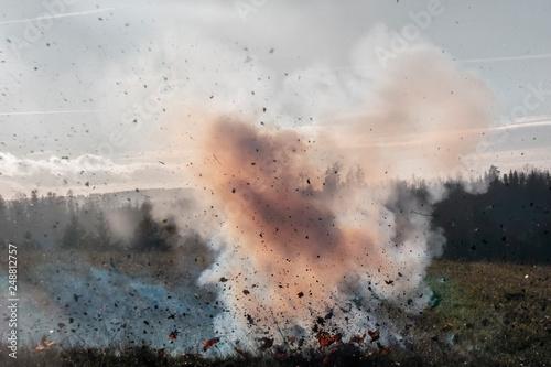 Fototapeta Ground cloud explosion