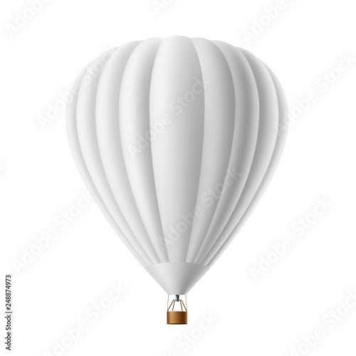 Photo Vector hot air balloon white mockup isolated