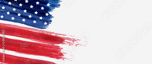 Photo Background with USA painted flag