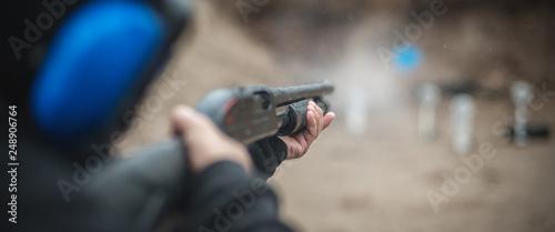 Stampa su Tela Combat shotgun shooting training