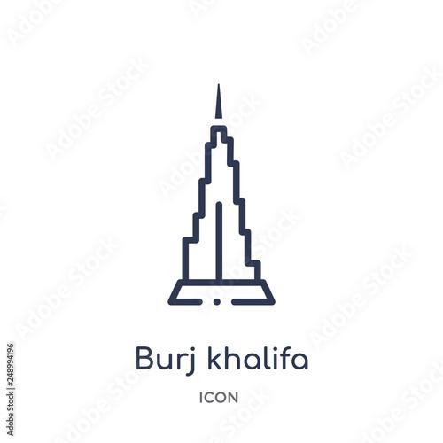 Fototapeta burj khalifa icon from monuments outline collection