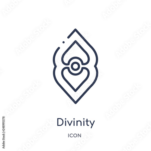 Leinwand Poster divinity icon from zodiac outline collection