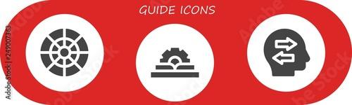 Photo guide icon set