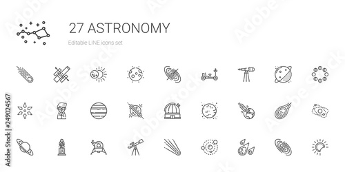 Fotografija astronomy icons set