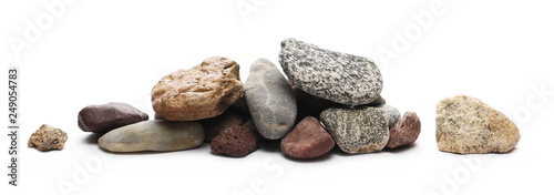 Photo Decorative rocks isolated on white background
