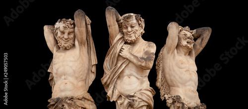 Fotografie, Obraz Antique statue of Satyrs