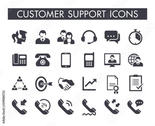 Slika na platnu Customer support service icon set