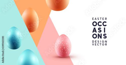 Obraz na płótnie Happy Easter abstract background with chocolate eggs