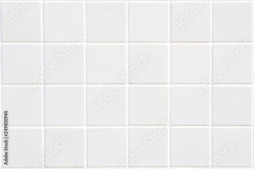 Fotografie, Obraz white ceramic tile with 24 squares in rectangular form