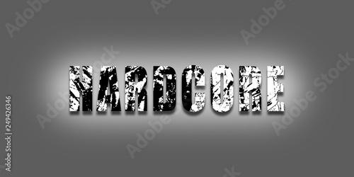 Vászonkép Slogan hardcore